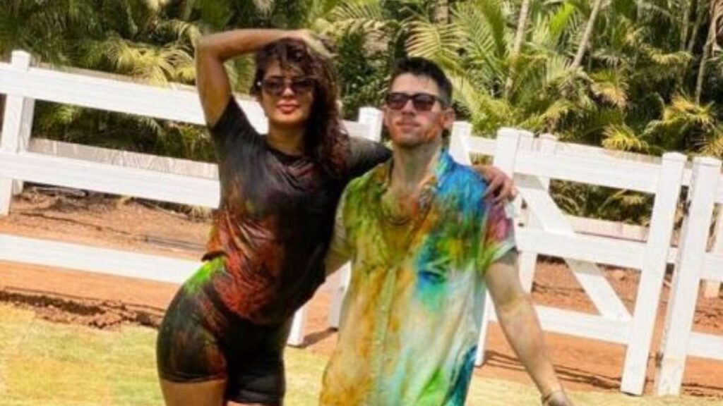 Nick Jonas celebrated his first Holi