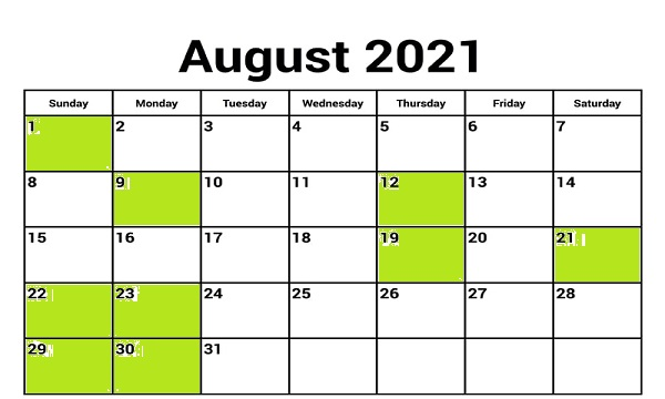 List of International Days in Aug 2021: Aug Month World Day 2021